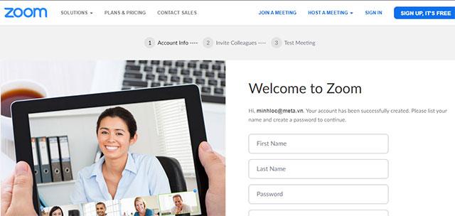 Đăng ký Zoom Online trên Zoom.us